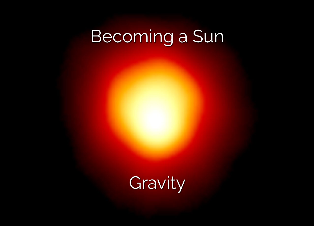 Becoming a Sun: Gravity